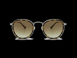 Gafas rendondas marco en metal dorado