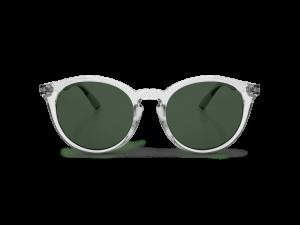 Gafas de sol redondas marco transparente