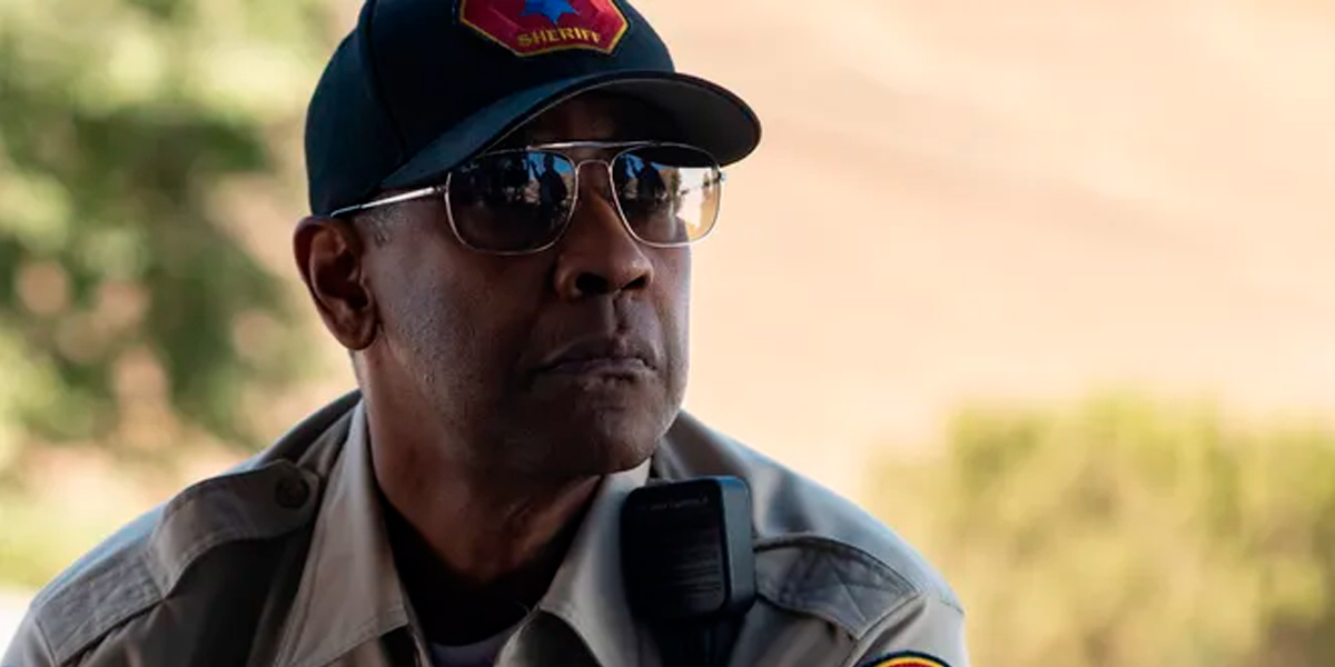 Denzel Washington usando Ray-Ban Colonel